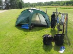 Warmth, sun and no mosquitoes at Örby's campsite
