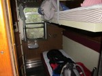 My compartment in the Train Hostel, Lund