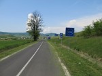 The Hungarian border with Slovakia