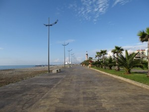 Batumi beach-side boulevard, pre-season