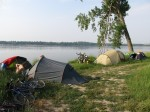 Our campsite at the Danube