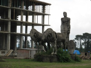 One of the weird Soviet-era statues along the road