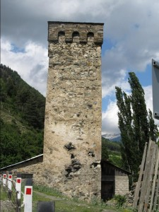 Svan tower in the village of Soli