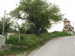 Muslim graves next to a orthodox church in Jezero near Srebrenica