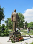Late Azerbaijani president Heydar Aliyev's statue