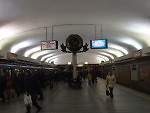Lenin Square metro station (note the hammer and sickle)